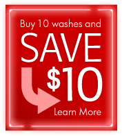 Buy 10 washes and save $10. Learn more.