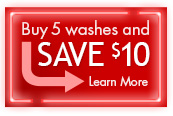 Buy 5 washes and save $10. Learn more.